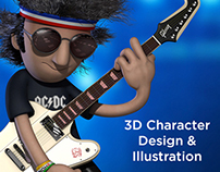 3D Character Design & Illustration