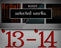 Selected Works '13 -'14