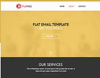 Flat-Mail eNewsletter PSD Template