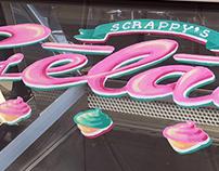 Ice Cream Glass Painting
