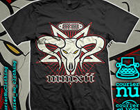 Goat_Head tee design for Courier_Nu Clothing