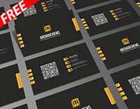 Modern Corporate Black Business Card Template (FREE)