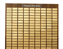 5 Foot Custom Perpetual Plaque