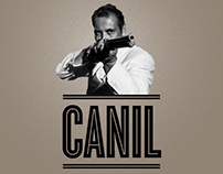"Poster & promotional material for theater play ""CANIL"""
