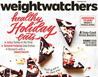 "magazine cover: ""Healthy Holiday Eats!"""