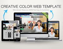 Freebie Creative Color PSD Template