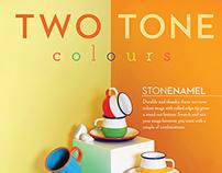 Two-Tone Stonenamel Ad