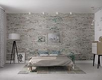 Apartment's design in Novosibirsk  bedroom 