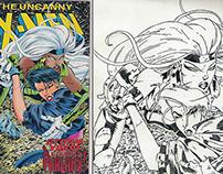 X-Men Storm and Yukio | Drawing