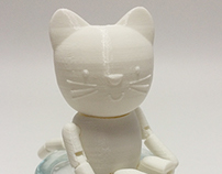 Emily Button 3D Printed Characters
