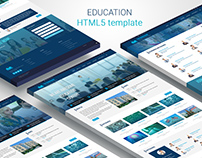 Website design for Education center, Semantic HTML5