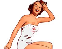 Иллюстрация рекламного героя для фитнес центра