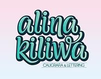 - Logo - Alina Kiliwa - Caligrafía & Leterring -