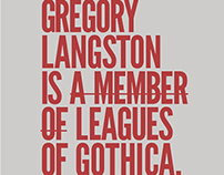 LEAUGE GOTHIC Font Book