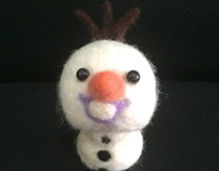 Felted Olaf - frozen