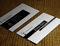 Free BLACK AND WHITE BUSINESS CARD TEMPLATE PSD