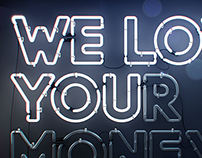We love you(r money) blue version