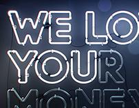 We love you(r money) blue version