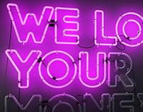 We love you(r money) pink version