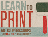 """Learn to Print"" Postcard"