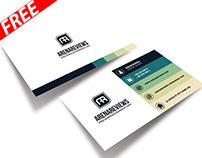 Creative Design Business Card Template (FREE)