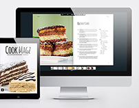 Beautiful Food Magazine Template for InDesign
