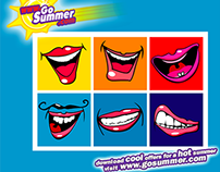 Animated eCRM teaser for GoSummer with Coca-Cola
