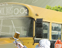 School Bus . Pre Launch Campaign