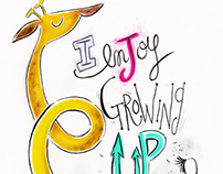 I enjoy growing up!