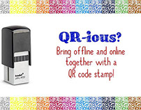 QR Code Rubber Stamps