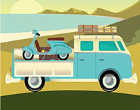 Custom Campervan A3 artprint