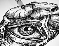 Heart eye illustration