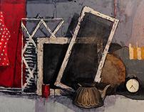 Acrylic still life paintings