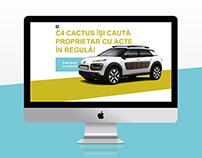 Citroen Cactus Contest Landing Page