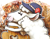 sheep - souvenir t-shirt print design