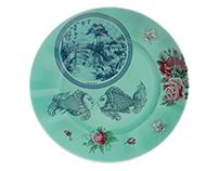 Heritage Teal dinnerware