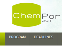 ChemPor 2011 - Web Site Layout