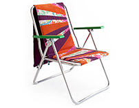 German camping chair 70s - customised