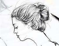 Fashion illustrations for Beau Monde Magazine