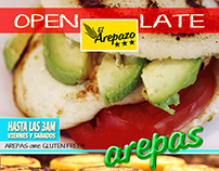 El Arepazo Ad for Latinos Magazine April 2014