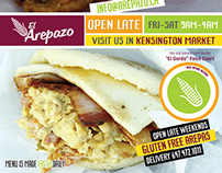 El Arepazo new Ad for Latinos Magazine Oct 2014