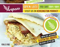 El Arepazo new Ad for Latinos Magazine Oct 2014