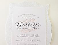 Kollette Baptism Invitations
