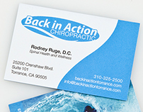 Back in Action Logo & Business Card