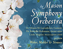 Mason Symphony Orchestra concert poster