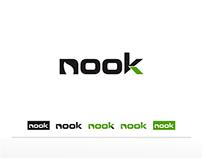 Wordmark Logo for nook company