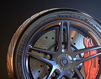 Updated wheel design, inspired by HRE's P107 (3D)
