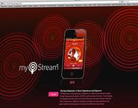 MyStream, APP Design | Microsite