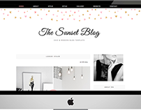 The Sunset - Blog Template