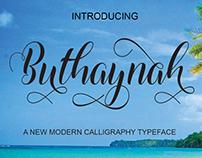 FREE Buthaynah Font